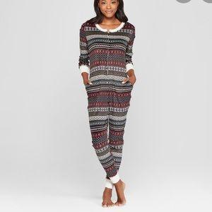 New fair isle long Johns pajamas M/L